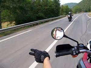 V en moto