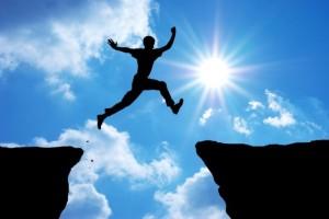 Autoconfianza-salto, superación