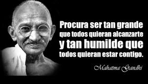Humildad-Gandhi