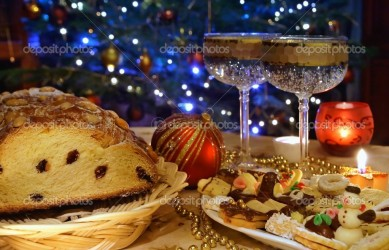Christmas atmosphere - sweets and christmas decoration
