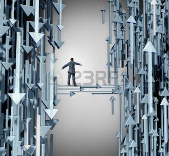 Emprendedor, flechas subir-bajar