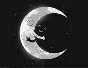 Luna abraza oscuridad