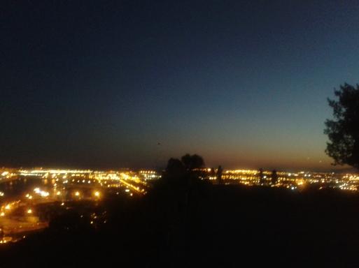Anochecer, puerto desde Montjuich-1