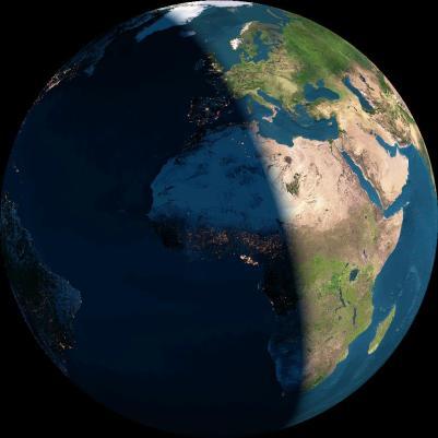 Tierra, noche y día