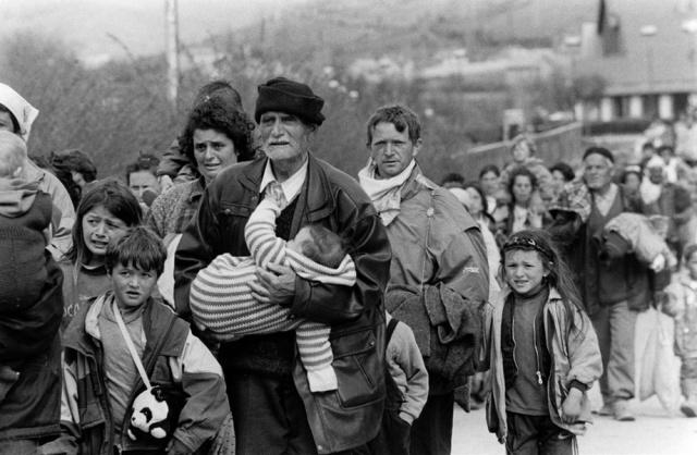 Desplazados guerra Kosovo