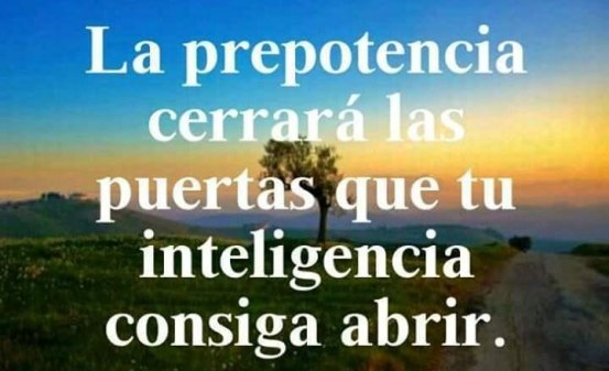 Prepotencia e inteligencia